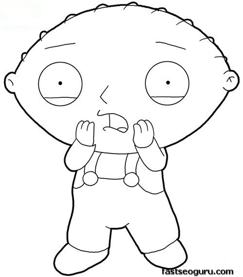 Printable Stewie Family Guy for kids Printable Coloring