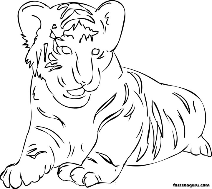 printable tiger coloring pages for kids