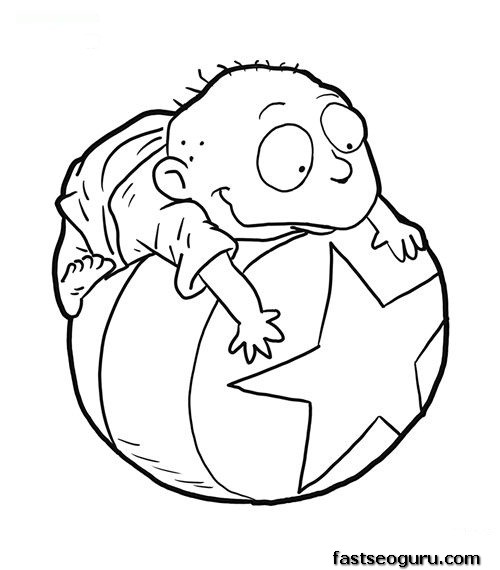 Printable Tommy From Rugrats Coloring Page