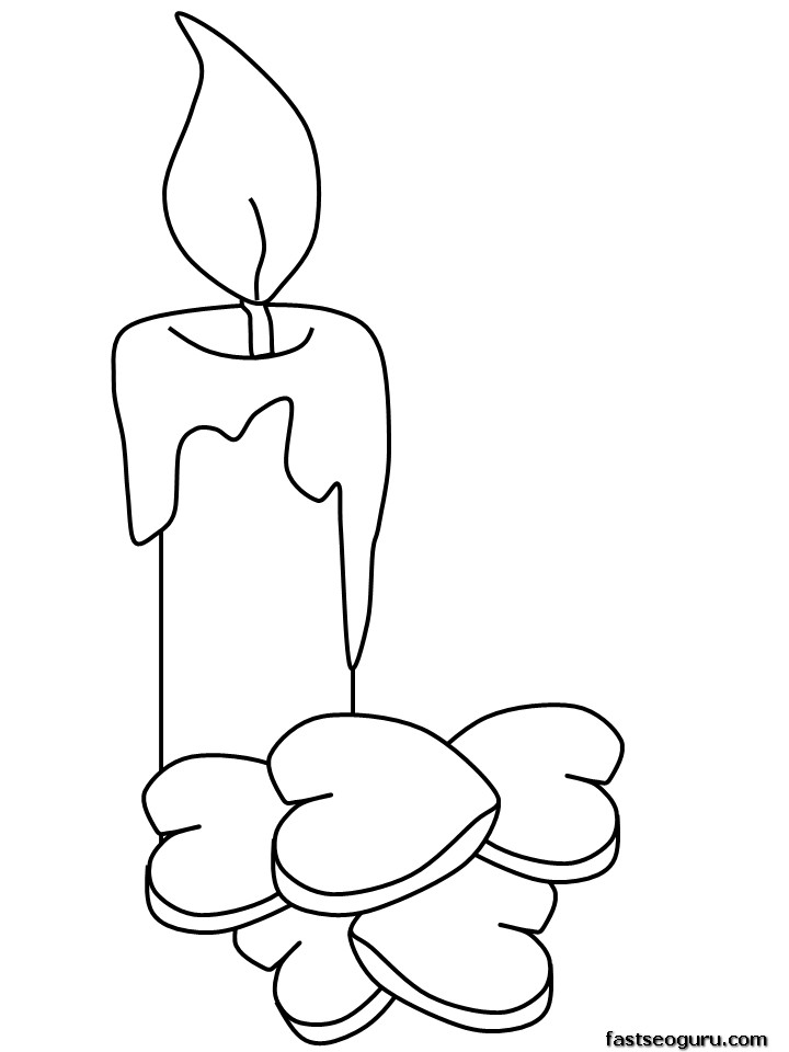 candles coloring pages - photo#28