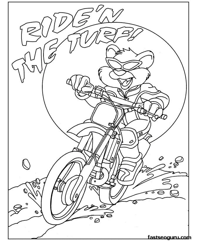 bmx coloring pages - photo#35