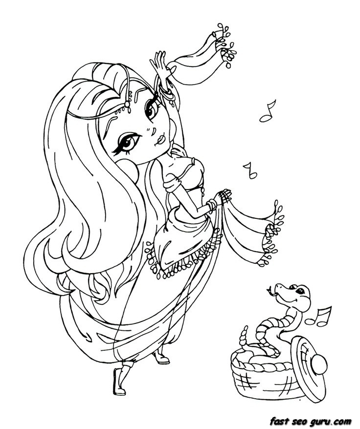 beautiful girl coloring pages - photo#7