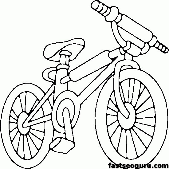 Bmx bike coloring sheets coloring pages for Bmx coloring pages