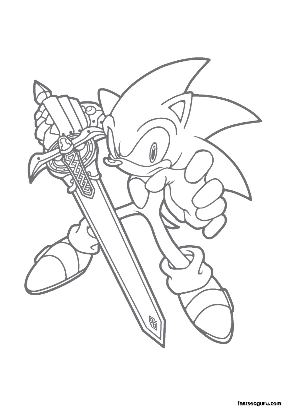 Printable Cartoon Sonic The Hedgehog Coloring Pages