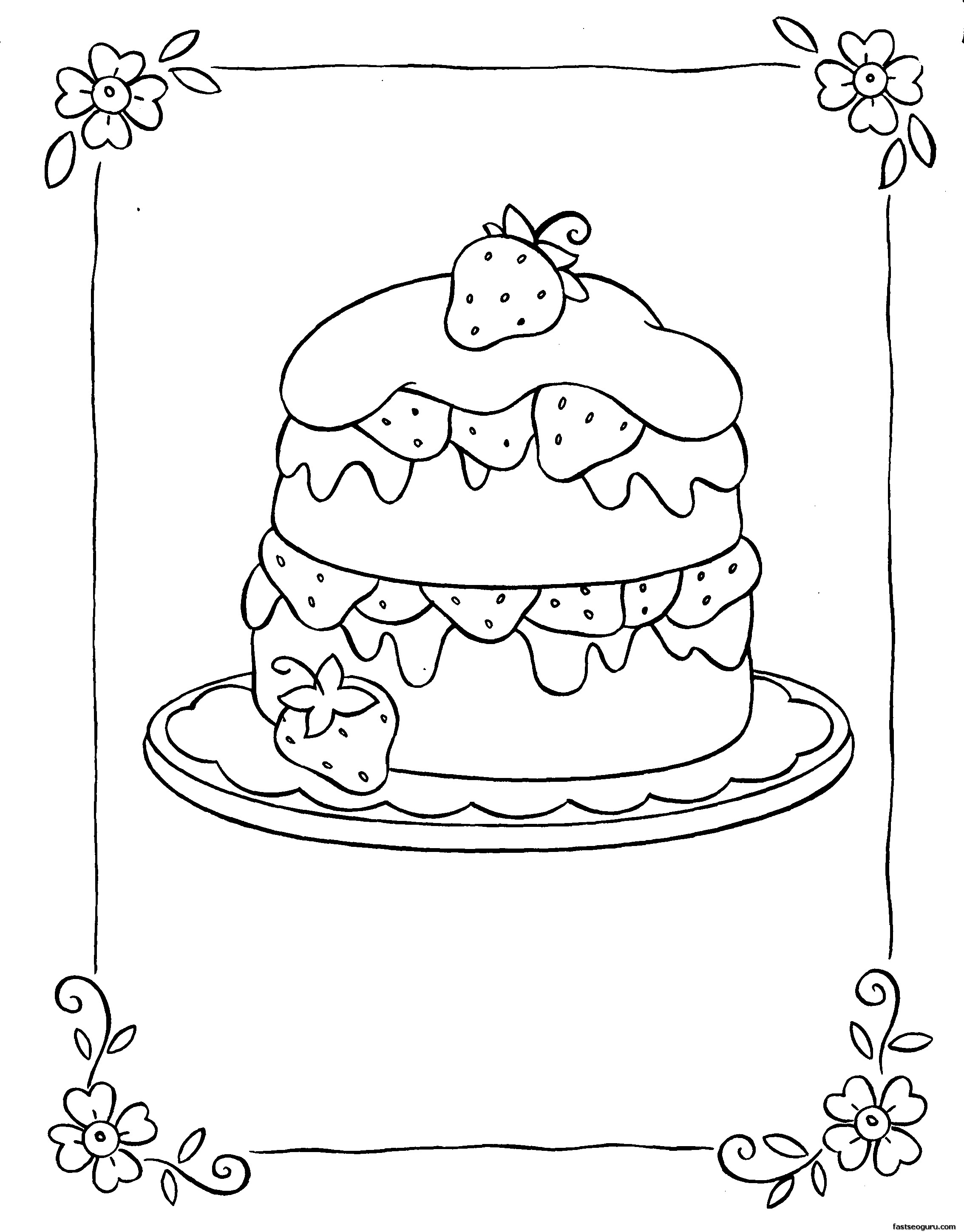 printable coloring pages strawberry shortcake free coloring pages