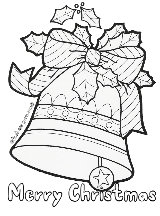 Christmas bells free colouring pages for Christmas bells coloring pages free