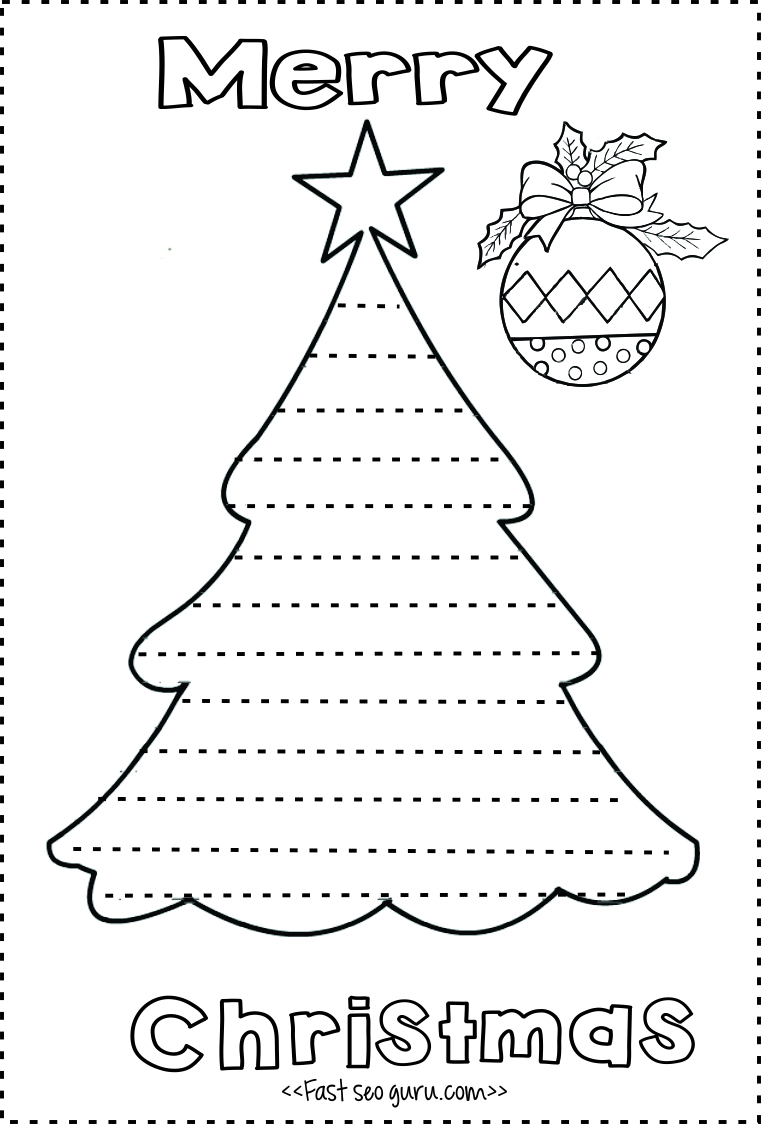 Print out christmas tree write a letter template to santa ...