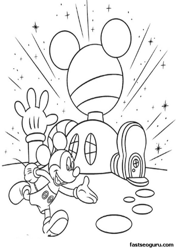 Printable Coloring Pages Mickey Mouse Clubhouse Mickey Mouse Clubhouse Color Pages