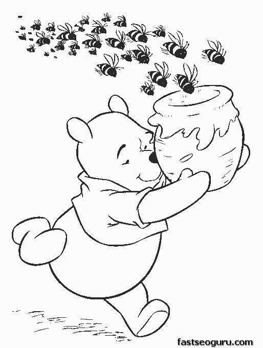 Free Printable coloring pages for kids Winnie the Pooh