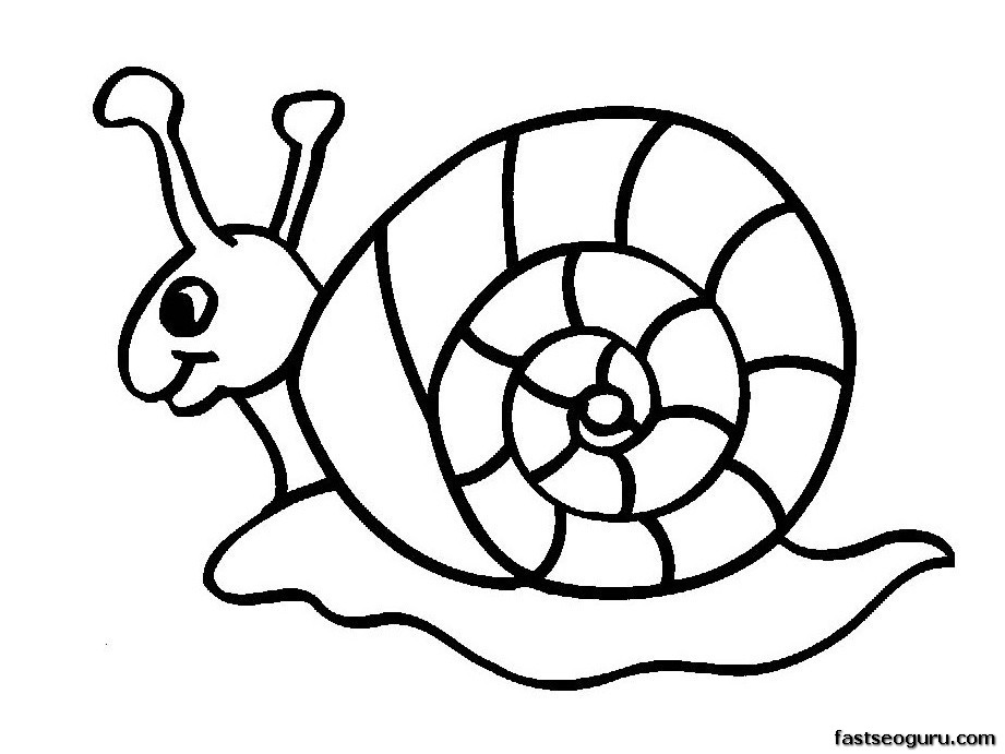 Superior Printable Coloring Pages Animal Snails For Kids