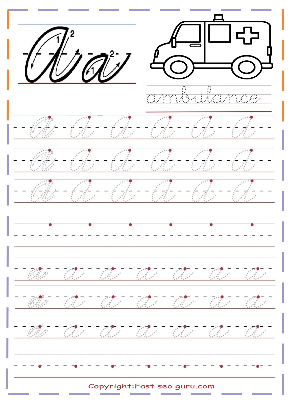 Print Handwriting Worksheets