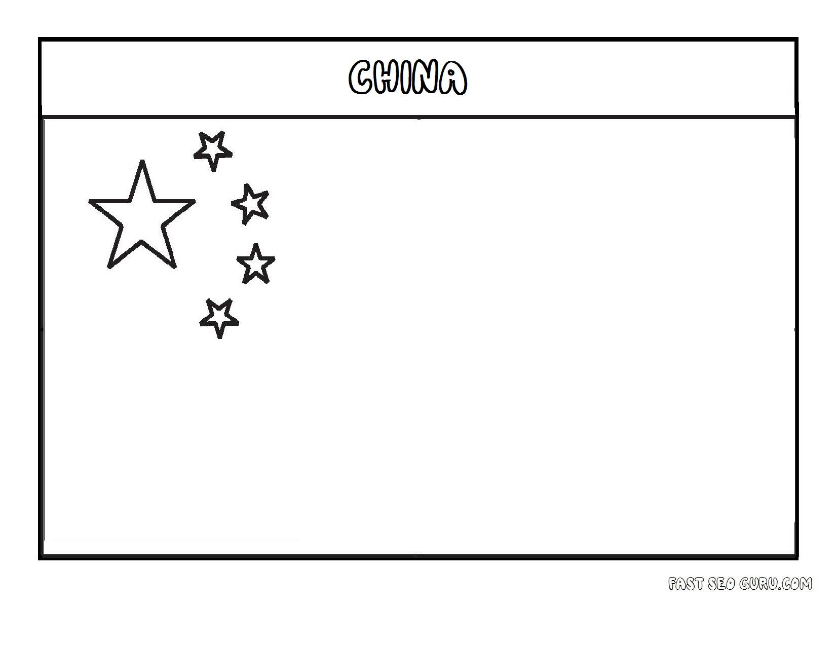Printable flag of china coloring page printable coloring for Free printable flags of the world coloring pages