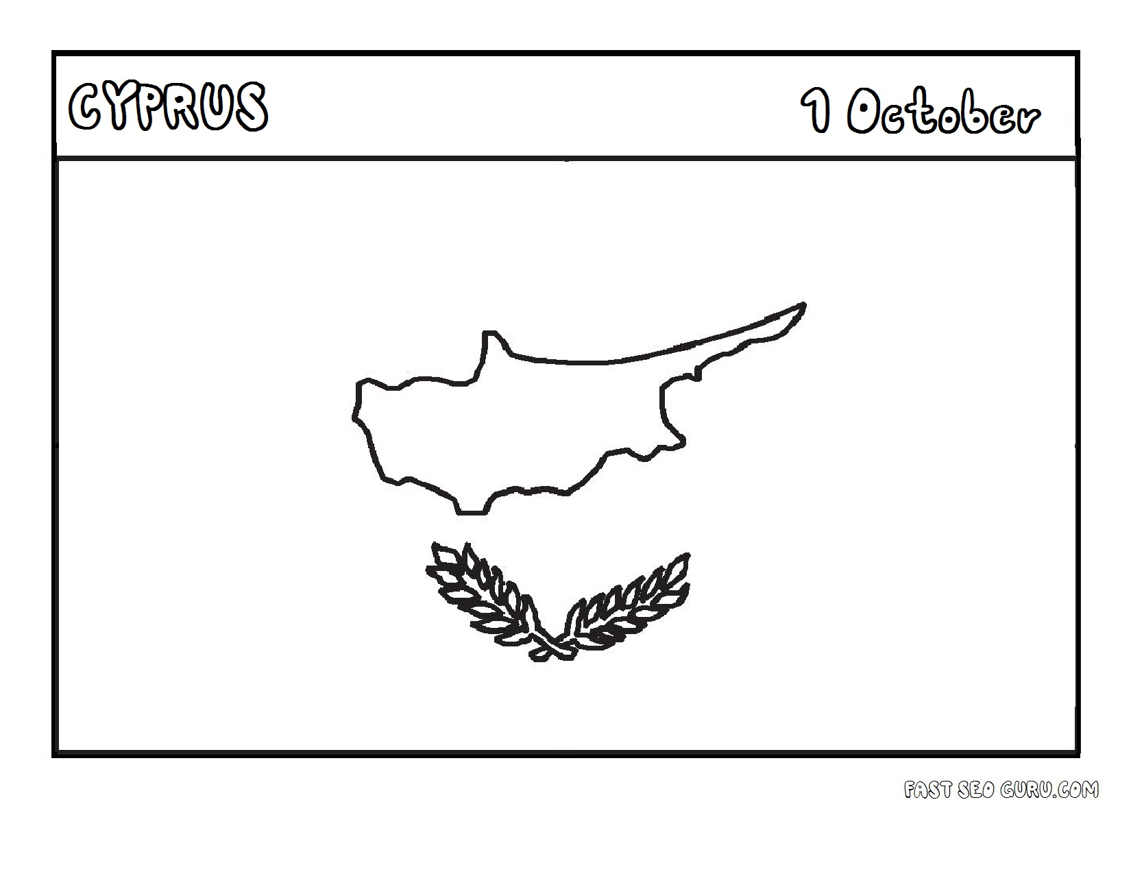 Printable flag of cyprus coloring