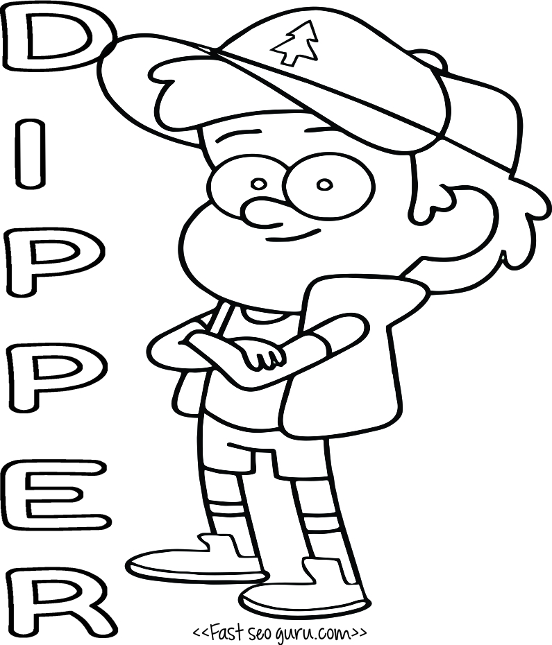 mabel and dipper coloring pages - photo#21