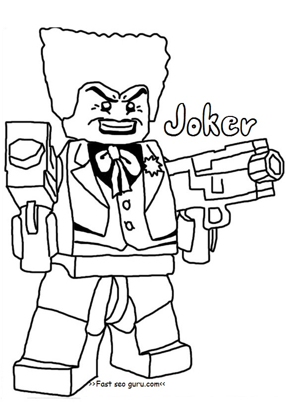Printable lego batman joker coloring