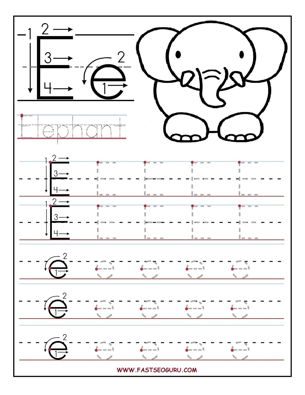 Alphabet Tracing Worksheets For Kindergarten In Addition Worksheet ...