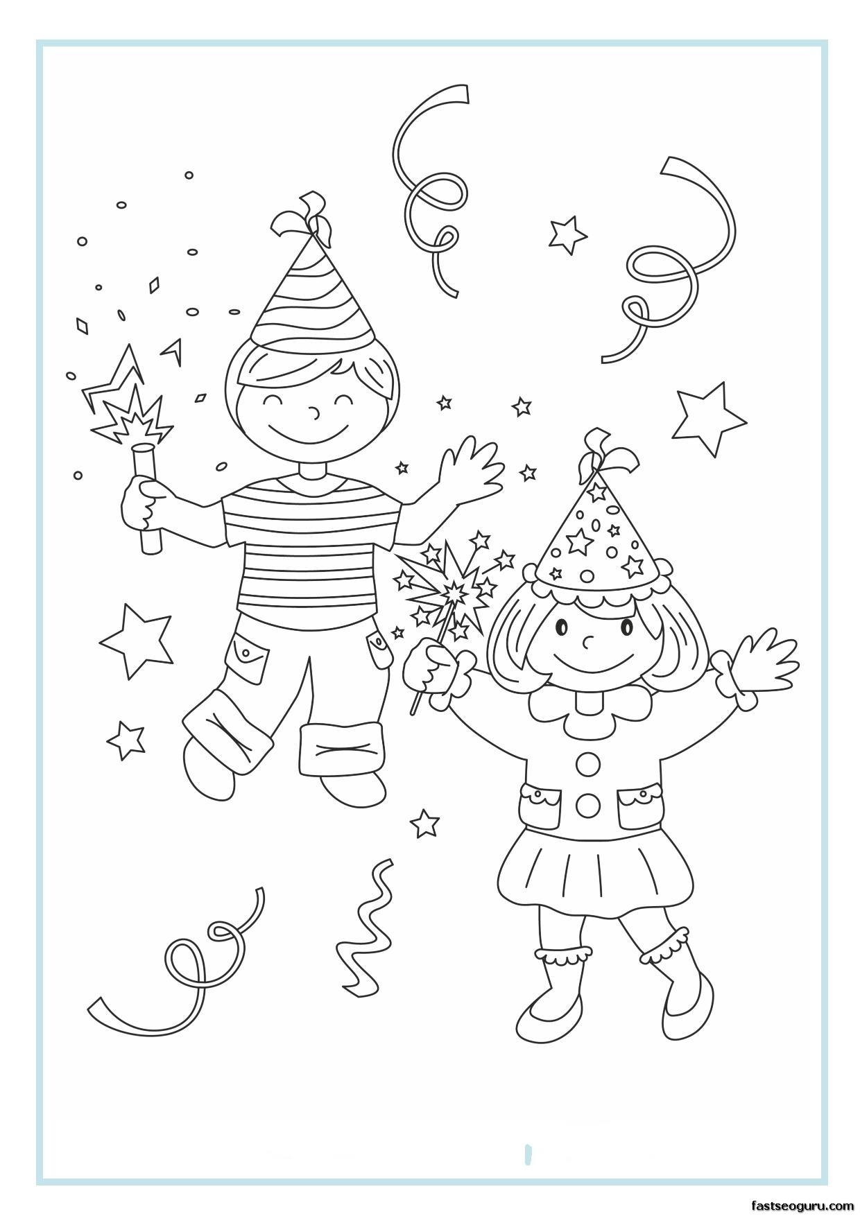 new years childrens coloring pages - photo#40