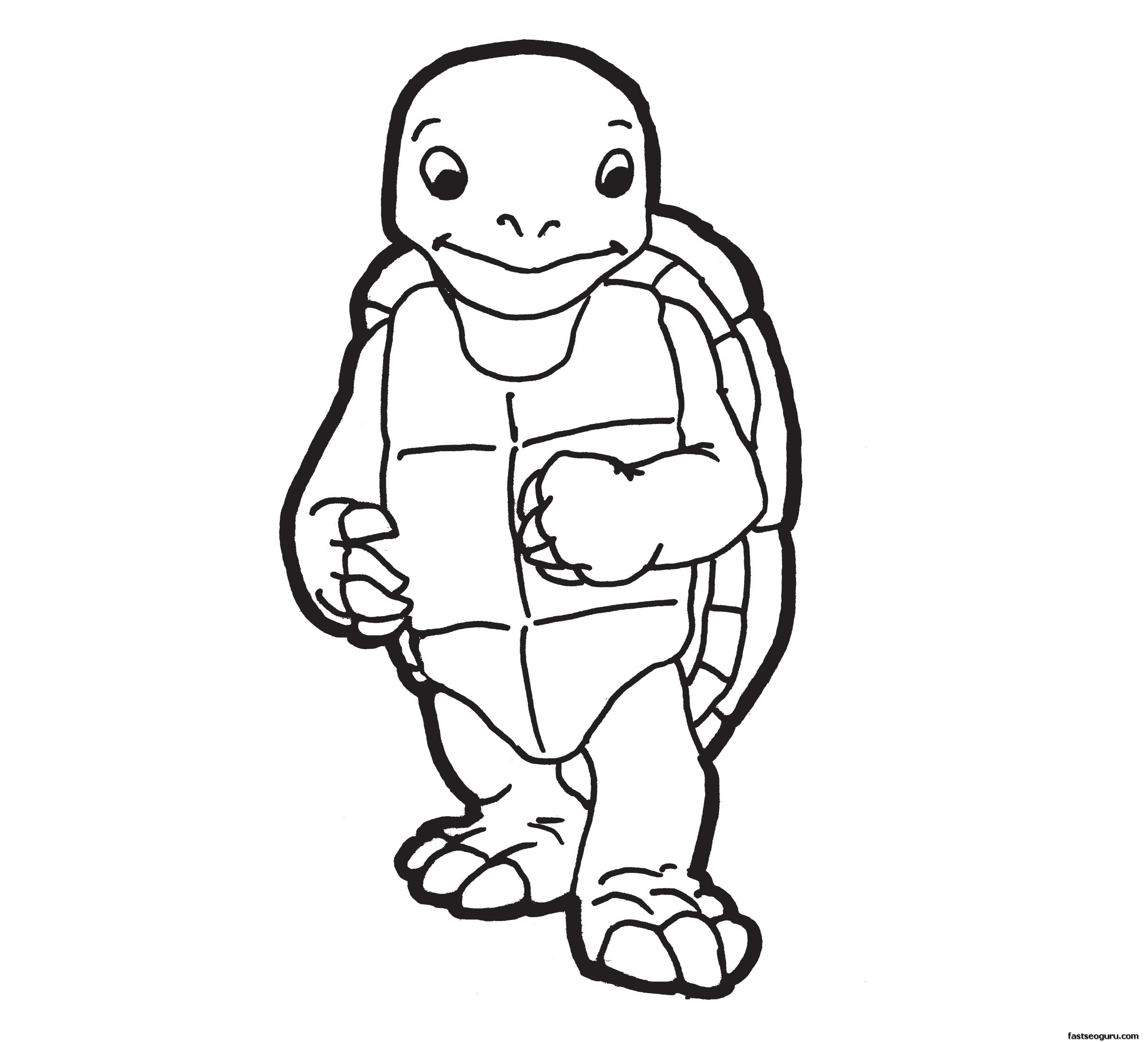 Printable sea animal Turtle coloring