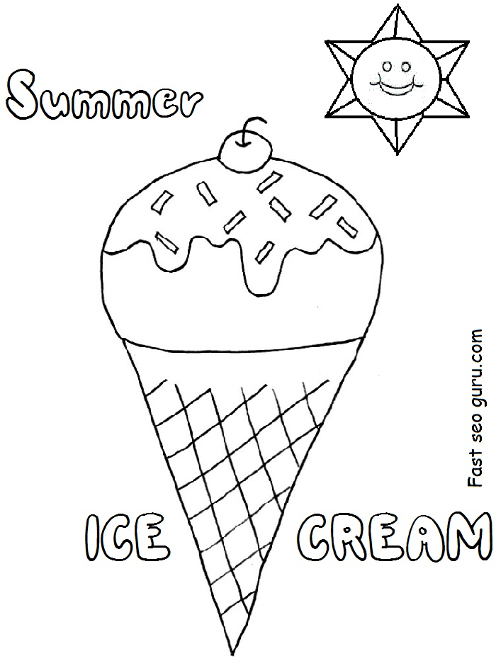 Coloring Pages Ice Cream Preschool