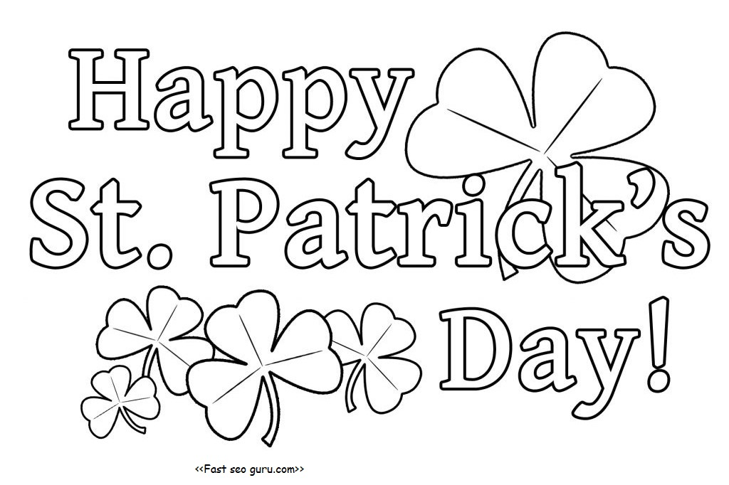 printanble happy st patricks day coloring pages