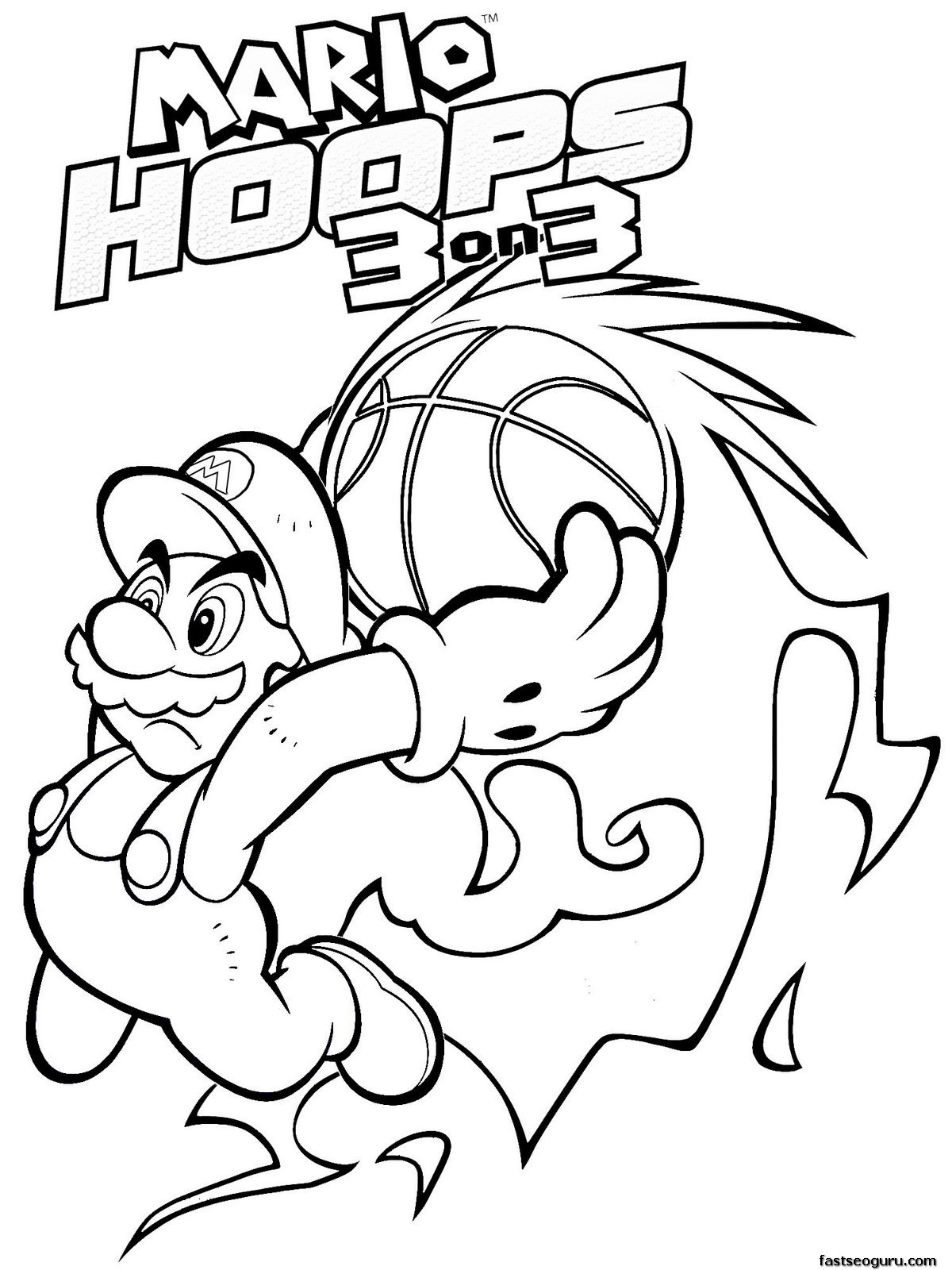 Printable Super Mario World Coloring Pages