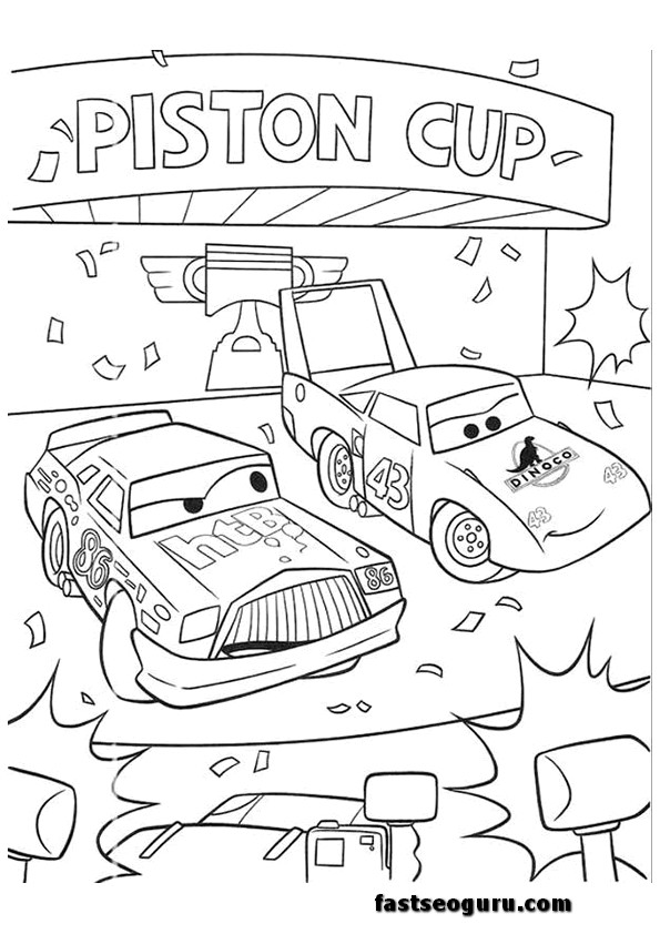 Coloring Pages Printables Cars Cars 2 Printable Coloring Pages