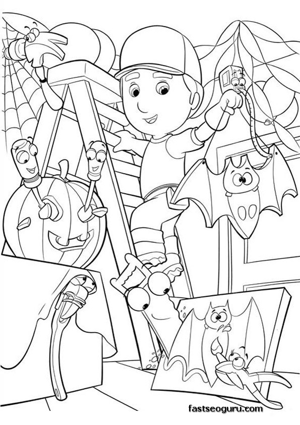 Coloring Handy Manny Printable Page