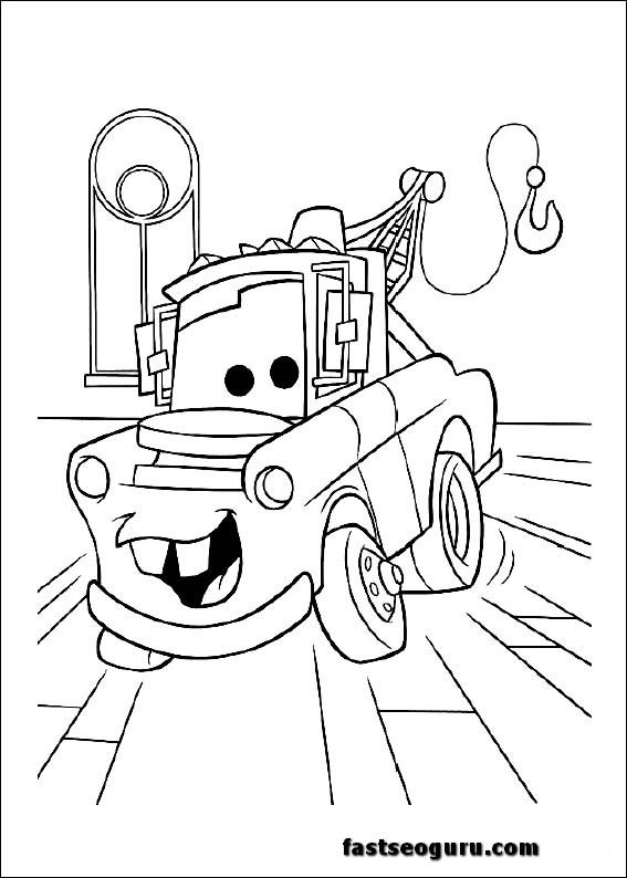 free printable mater coloring pages - photo#17