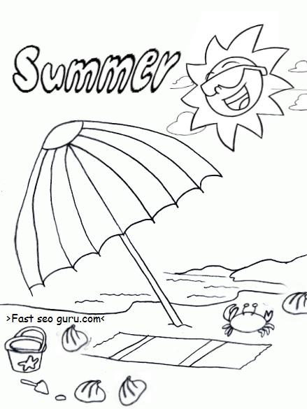 free printable summer beach umbrella