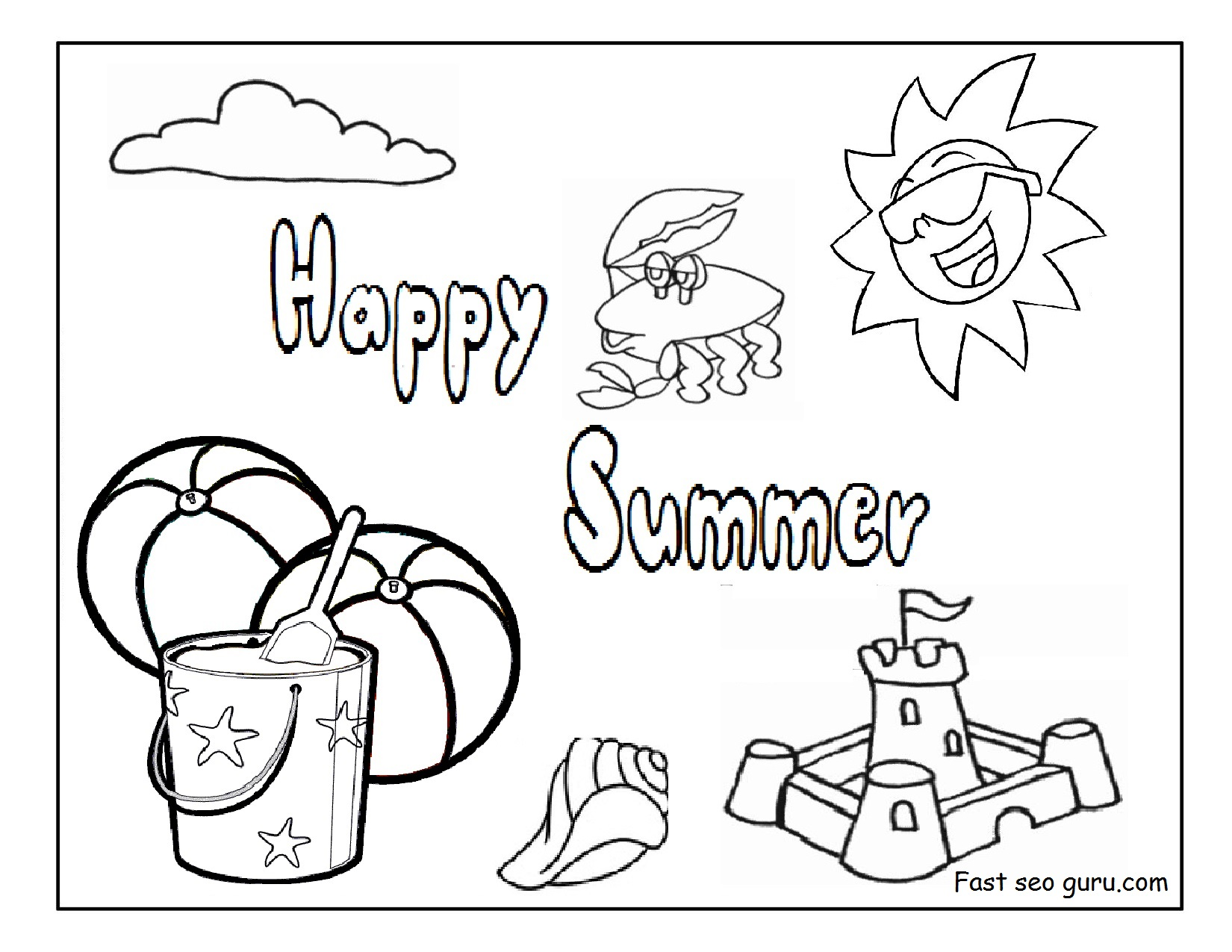 fabulous-beach-coloring-sheets-pages-free-printabler-kids-summer ... | 1275x1650