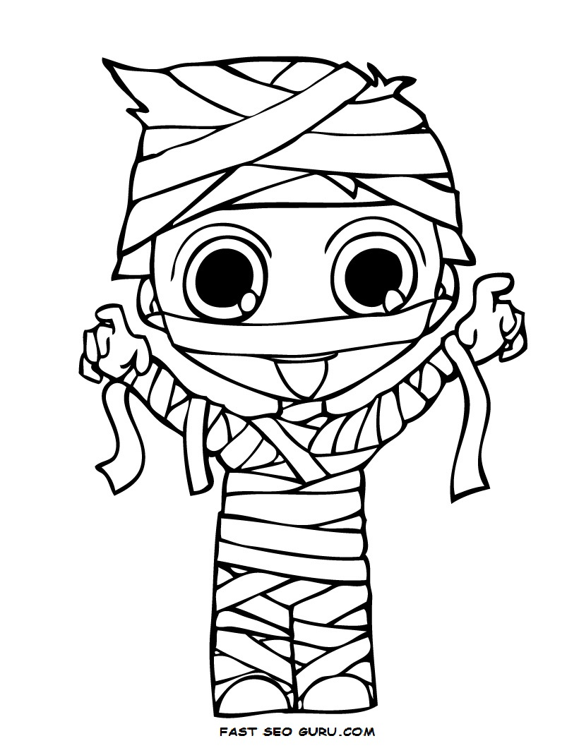 halloween mummy coloring pages - photo#11