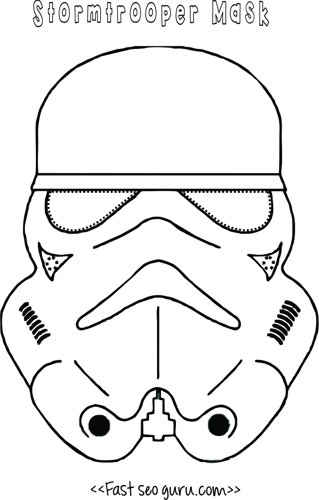 graphic relating to Printable Star Wars Mask named Star wars stormtrooper mask printable for children