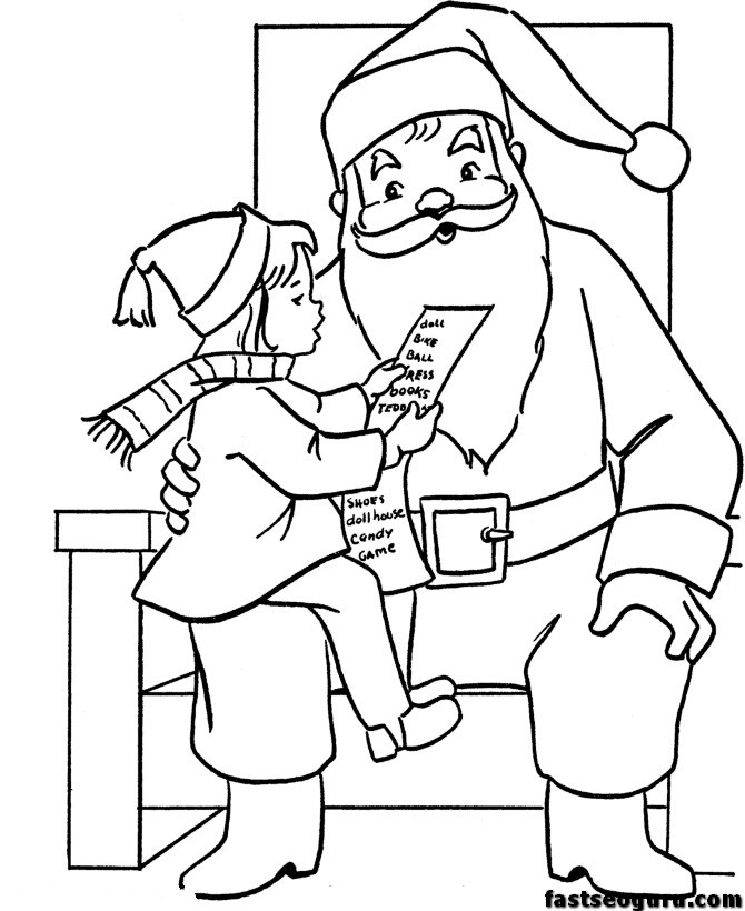 christmas computer coloring pages - photo#12