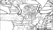 Printable barbie thumbelina Janessa Chrysella and Makena coloring pages