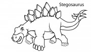 Printable dinosaur stegosaurus coloring pages