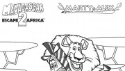 Printable madagascar 2 Marty and Alex coloring pages