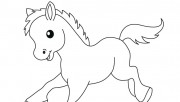 Print out Farm Pony Baby …