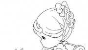 Precious Moments girl sitting on chair coloring pages