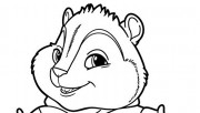 Print out Alvin and the Chipmunks Theodore Seville coloring pages