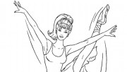 Printable Barbie Ballerina coloring in sheet