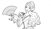 Printable Barbie princess dress colouring book pages