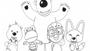 Printable Disney Pororo the Little Penguin and Friends coloring pages