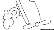 free print out airplane with propellor coloring pages