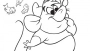 Printable disney characters Cinderellas Mice and Birds coloring pages