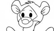 Printable disney Winnie the Pooh Baby Tigger coloring pages