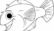 Print out happy aquarium fish coloring pages