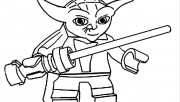 Print out Lego Star Wars Yoda Coloring Pages