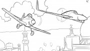 Printable Planes rochelle and dusty coloring page