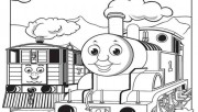 Print out pictures of Toby the tram engine Thomas the train and friends coloring pages for boys