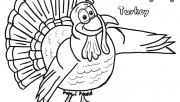 Printable thanksgiving turkeys coloring pages